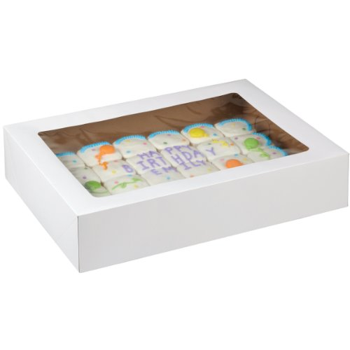 Wilton 415-0966 2-Pack Corrugated Cake Box with Window, 19 by 14 by 4-Inch