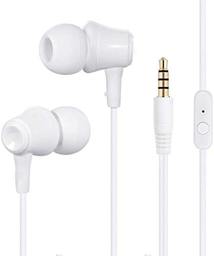 Wired Headphones,in-Ear Earbuds Earphones,Noise Cancelling Waterproof Sports Earphones,Stereo Sound with Built-in Mic for iPhone 6 6s Plus 5s SE, Android Smartphones,Galaxy,Tablets and More