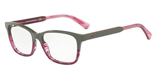 Emporio Armani EA3121 Eyeglasses 5569 Military/Transparent Striped Pink 54-16-140 26748_6-117