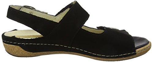 Waldläufer Women's Heliett Ankle Strap Sandals Black (Denver Schwarz 001) PkCcIhE8d