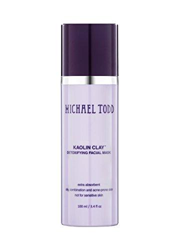 Michael Todd Kaolin Clay Detoxifying Facial Mask Maximum Strength for Oily, Combination and Acne-Prone Skin, 3.4 Fl Oz