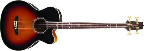 Takamine GB72CE-BSB Jumbo Acoustic Electric Bass Guitar, Black Sunburst ()