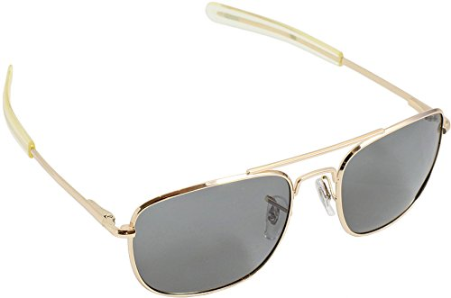 HUMVEE HMV-52B-GOLD Polarized Bayonette Style Military Sunglasses with Gray Lenses and Gold Frame, 52mm (Lens Frame Polarized Gray)