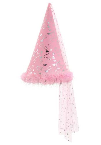 [Rubie's Costume Child's Conical Hat with Train and Marabou Trim, Pink, One Size] (New York Costume For Kids)