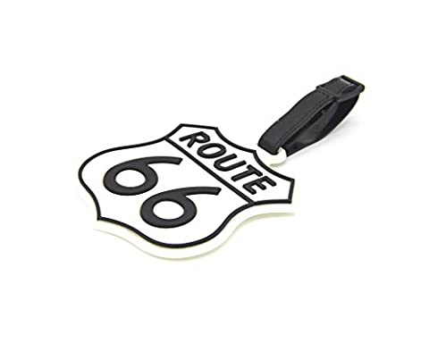 CellDesigns U.S. Route 66 Luggage Tag Suitcase ID Tag with Strap (U.S. Route 66) - En Route Luggage Tag