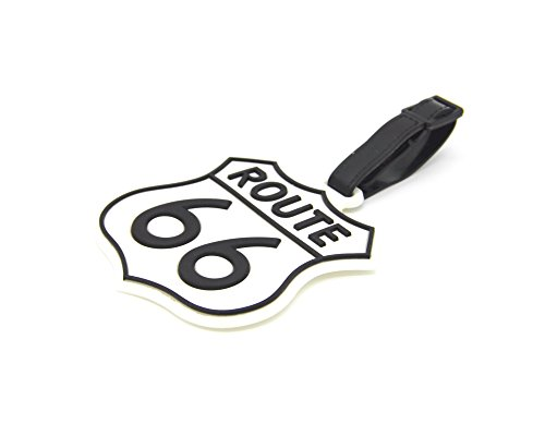 (CellDesigns U.S. Route 66 Luggage Tag Suitcase ID Tag with Strap (U.S. Route 66) )