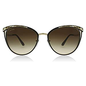 Bvlgari BV6083 203013 Brown/Pale Gold BV6083 Round Sunglasses Lens Category 3 S