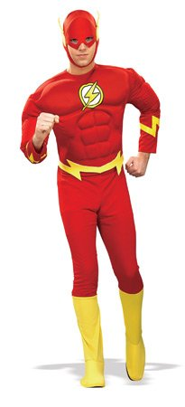 Rubie's Costume Dc Heroes and Villains Collection Deluxe Muscle Chest Flash, Red, X-Large Costume(Adult) (Adults Only Halloween Costumes)