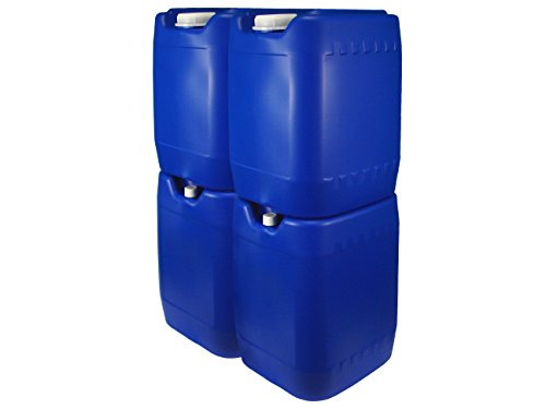 (Poly Farm Stackable Emergency Water Storage Carboy, 5 gallon, Blue, 4-pack with spigot)