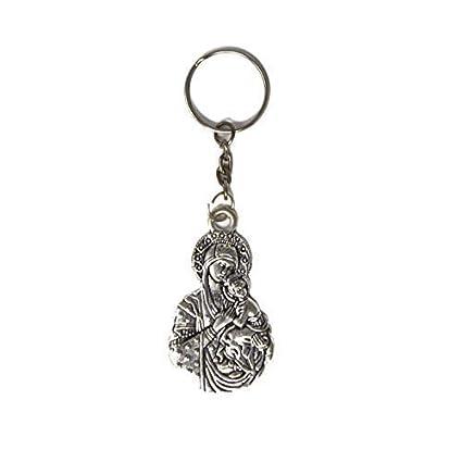 Amazon.com: Rosary Heaven - Llavero de metal plateado con ...