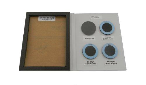 DeFelsko S Series 4 Piece Epoxy on Steel Round Metal Plate Set, +/- 0.017 mil Accuracy, 1-1/2