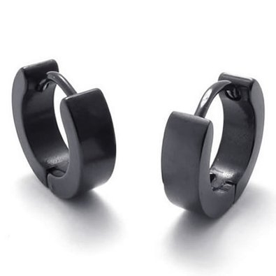 chop-mallr-round-black-stainless-steel-mens-hoop-earrings-2pcs