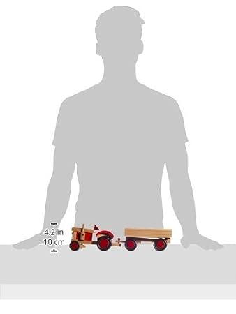 7-teili mit 4 Tieren aus Holz Small Foot 7158 Traktor und Anhänger mehrfarbig