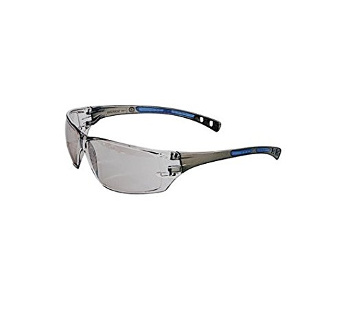 Radnor 64051242 Cobalt Classic Series Safety Glasses with Charcoal Frame, Clear Indoor/Outdoor Lens and Flexible Cushioned Temple -