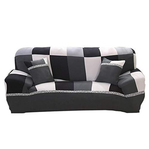 Bazzano Stretch Sofa Cover Protector 190x230cm 3-Seater Seat Couch Slipcover Plaid