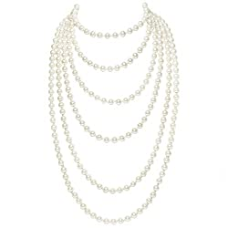 Women's Vintage Multilayer Pearl Beads Necklaces