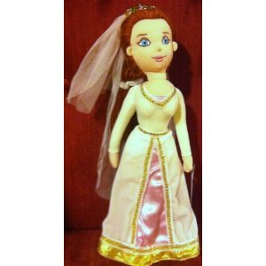 Shrek Princess Fiona in Wedding Gown 12 Plush Stuffed Soft Rag ...