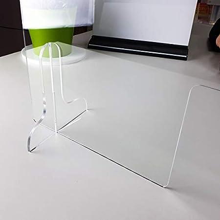 Paraban Mostrador Mampara Ventanilla 65cm Alto x 100cm Ancho Paraban Plex Separador transparente Pantalla de protecci/ón