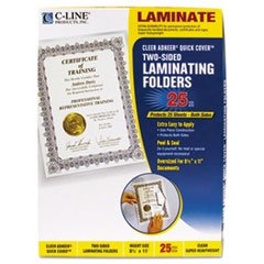 Quick Cover Laminating Folders, 12 Mil, 9 1/8 X 11 1/2, 25/pack By: C-Line - Folders Quick Cover Laminating