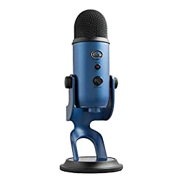 Blue Yeti USB Mic for Recording and Streaming on PC and Mac,3 Condenser Capsules,4 Pickup Patterns,Headphone Output…
