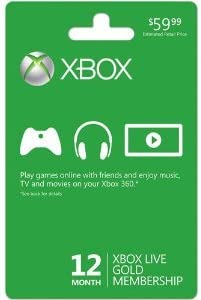 Amazon Com 12 Months Xbox Live Gold New Video Games