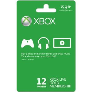 12 Months Xbox Live Gold New