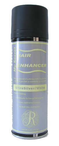 12 Pack My Secret Hair Enhancer Spray 5oz Ultra Silver White with 2 Free Travel Shampoo 2oz by My Secret