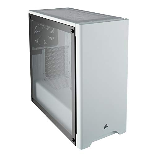 CORSAIR CARBIDE 275R Mid-Tower Gaming Case, Tempered Glass- White (CC-9011133-WW) ()