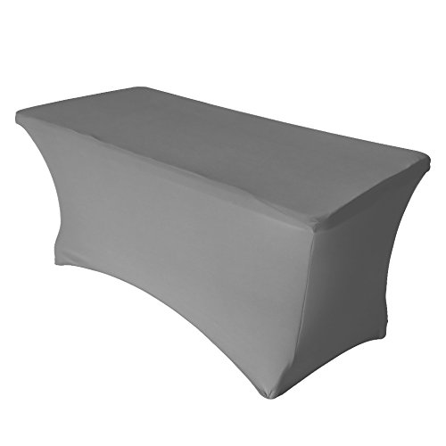 Eurmax Rectangular 6ft Spandex Polyester Table Cover Fitted