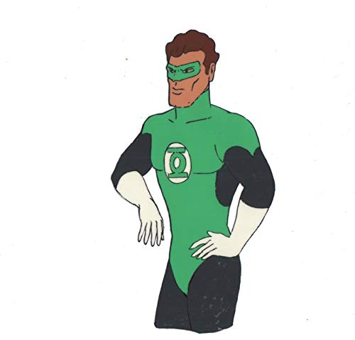 Green Lantern Superfriends Animation Cell and Drawing from Hanna Barbera 1978 or 1984-5