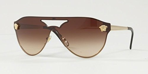 Versace Womens Sunglasses Gold/Brown Metal - Non-Polarized - - Sunglasses Polarized Versace