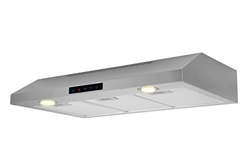 Kitchen Bath Collection WUC90-LED Stainless Steel Under-Cabinet Range Hood, - Range Hoods 36