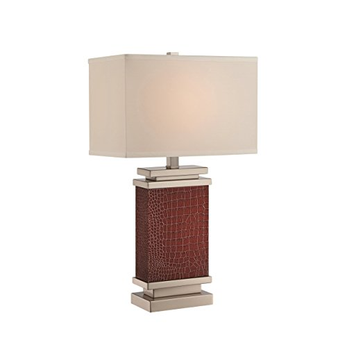 Lite Source LS-22441 Kelis Leather Wrapped Table Lamp, Brown