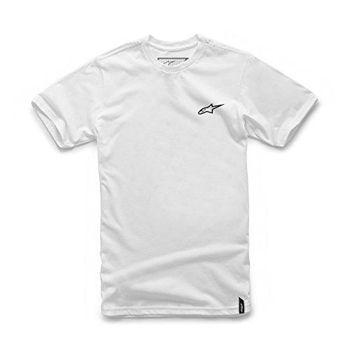 Alpinestars Men's Modern Fit Short Sleeves 146 GSM Logo T-Shirt, Neu Ageless White, M