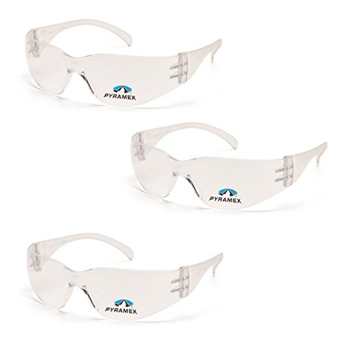 Pyramex Safety Intruder Reader Bifocals Clear Frame with Clear Lens (3 Pair) (Clear + 1.5 ()