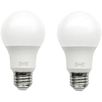 RYET LED bulb E26 600 lumen, globe opal 2 pack