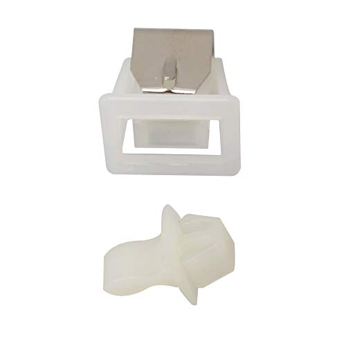 Yibuy 19mm Length White Dryer Door Latch Part Replacement 279570 for Whirlpool by Yibuy (Image #4)
