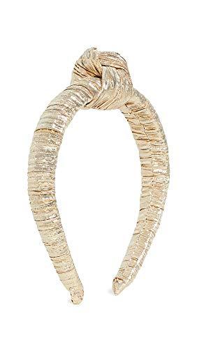 Loeffler Randall Women's Knot Headband, Gold, One