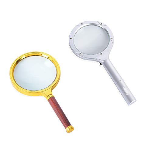 - Shop LC Delivering Joy Silver Gold Brown Resin Set of 2 Magnifying Glass (1-6 LED/2-90 MM) (9.25x4.25 6.69x3.54)