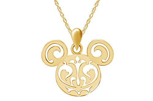 Wishrocks an Adorably Mickey Mouse Classic Pendant 14k Yellow Gold Over Sterling - Gold Estate Pendant