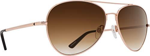 Spy Optics Whistler Aviator Sunglasses, Rose Gold/Happy Bronze Fade, 1.5 mm ()