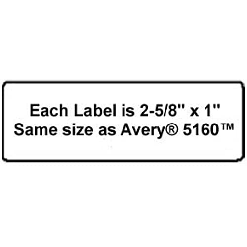 30%OFF 600 Label Outfitters Vinyl Laser Labels, 2-5/8 x 1