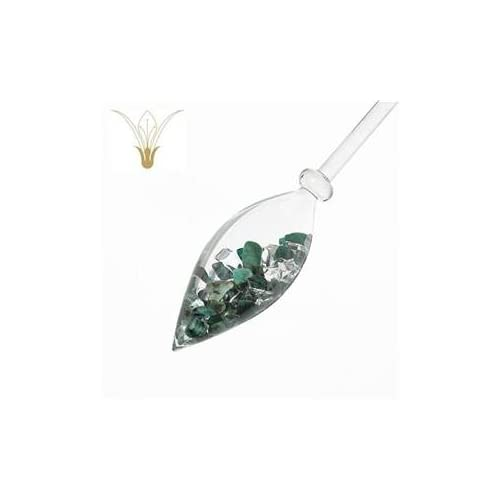 Image of Pet Supplies VitaJuwel Vitality Vial Emerald Clear Quartz Gemstone Infused Lead-Free Bohemian Glass - Enhances and Structures Drinking Water