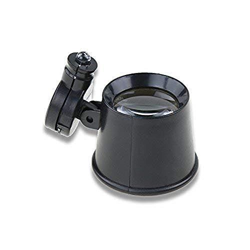Portable Magnifier HJBH Eye Mask Magnifier - Suitable for Reading Repair Watchmaker Circuit Repair Amplifier 10X Optional (Color: Black) Personalized Desktop Reading Magnifier