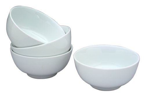 Bia Dinnerware Set - BIA Cordon Bleu 24-Ounce White Porcelain Chowder Bowls, Set of 4 (900134)