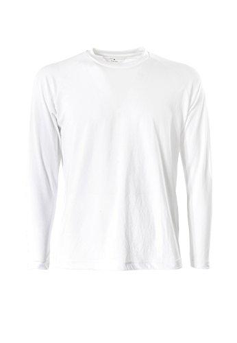 (JIB Techno T-Shirt L/S, Col.Optical White,Size: XXL)