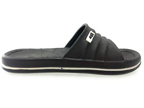 Axa Mare Nero Pantofola Mare Uomo piscina Ciabatta Shoes yvwO0nm8N