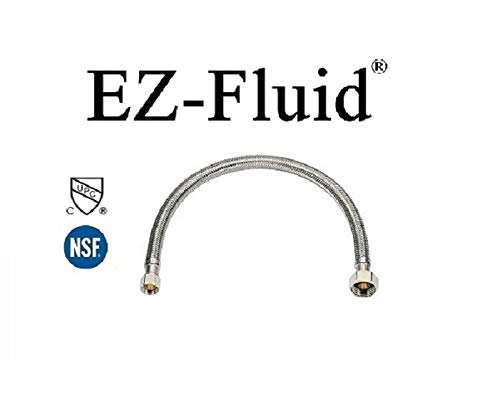 EZ-Fluid Stainless Steel Braided Faucet Water Supply Hose Lines 1/2'' Fip x 3/8'' Comp x 20'' (Pack 10) by EZ-Fluid (Image #3)