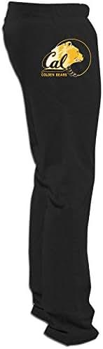 ElishaJ Men's California University Berkeley Light Weight Training Sweaterpant Black XXL