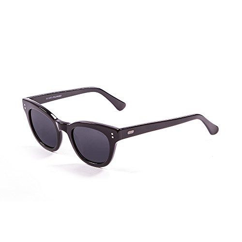 Ocean Sunglasses Santa Cruz Lunettes de Soleil Mixte Adulte, White Tortoise/Smoke Lens